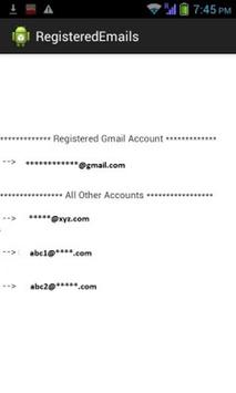 Registered Emails apk screenshot
