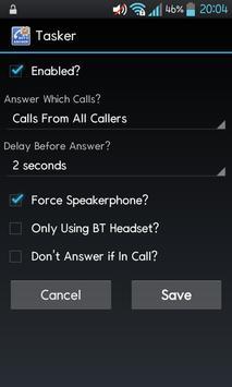 Auto AutoAnswer Tasker Plugin apk screenshot