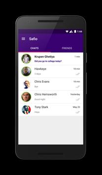 Safio - Safest Chat App poster