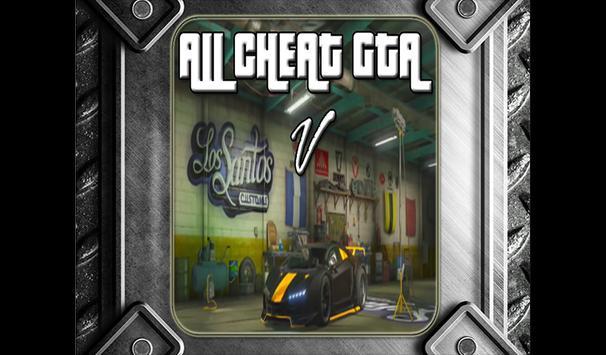 All Cheats GTA apk screenshot