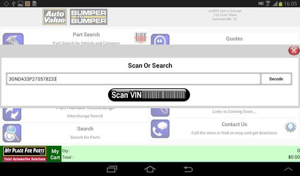 Beta-MyPlaceForParts-Tablet apk screenshot