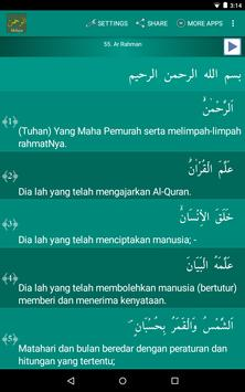Surah Ar-Rahman Malay apk screenshot