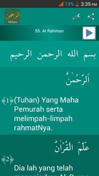 Surah Ar-Rahman Malay poster