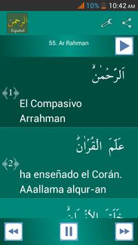 Surah Ar-Rahman Spanish apk screenshot