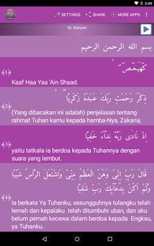 Surah Maryam Indonesian apk screenshot