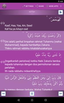Surah Maryam Malay apk screenshot