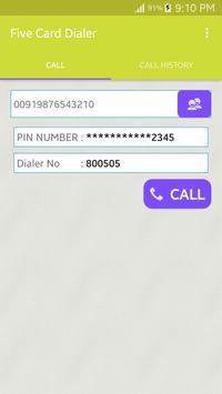 Five Card Dialer apk screenshot
