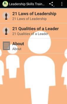 Leadership Skills Training poster