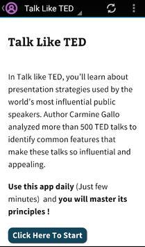 Learn Talk Like TED apk screenshot