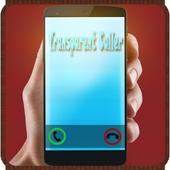 Transparent caller pro icon