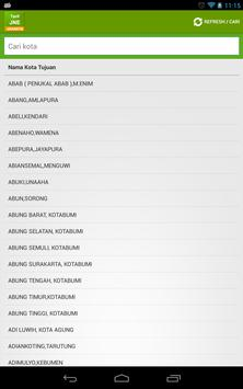 Tarif JNE Jakarta apk screenshot