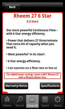 Rheem Continuous Flow Selector apk screenshot