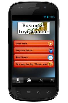 Business Investment poster