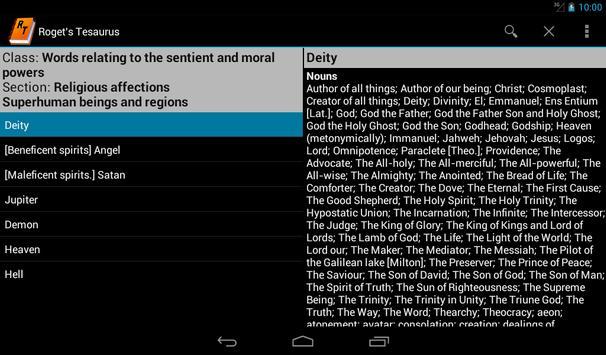 Roget's Thesaurus apk screenshot
