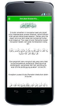 Amalan Bulan Ramadhan poster
