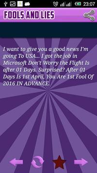 Fools and Lies April 2016 apk screenshot