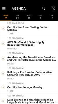 AWS re:Invent 2016 Event App apk screenshot