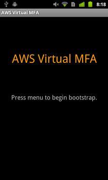 AWS Virtual MFA poster