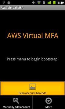 AWS Virtual MFA apk screenshot