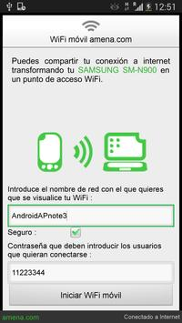 WiFi móvil amena apk screenshot