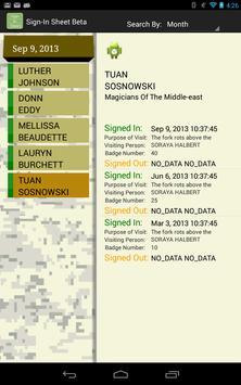Sign In Sheet Beta apk screenshot