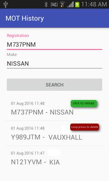 MOT History apk screenshot