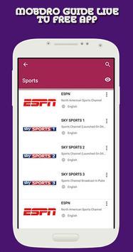 Guide for Mobdro TV free app apk screenshot
