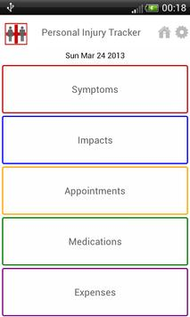 Personal Injury Tracker Free apk screenshot