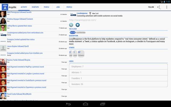 Angelile-Startups on AngelList apk screenshot
