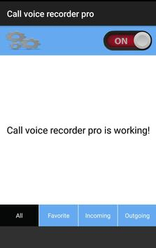 Call Voice Recorder PRO apk screenshot