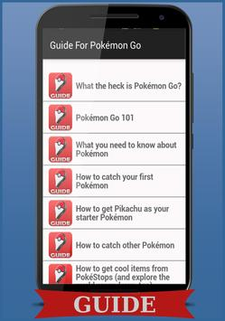 Tips and Guide For Pokémon Go apk screenshot