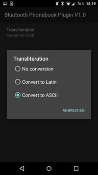 Phonebook Transliteration apk screenshot