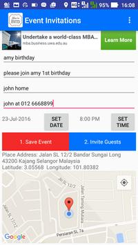 Party Invitations GPS poster