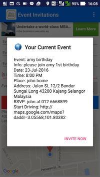 Party Invitations GPS apk screenshot