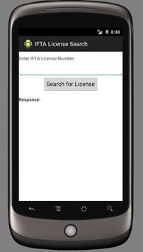 IFTA Inc. License Lookup poster