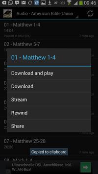 Bible ABU Audio & ebook apk screenshot