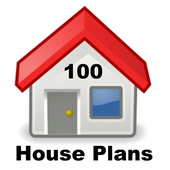 100 House Plans in PDF and CAD icon