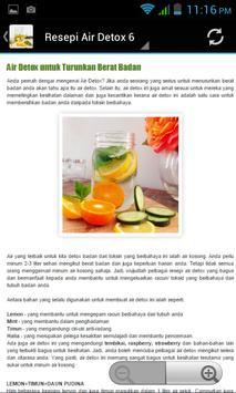 Resepi Detox Water apk screenshot