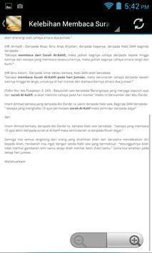 Surah Kahfi Ayat Pelindung apk screenshot