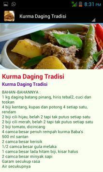 Resepi Daging Tradisi apk screenshot
