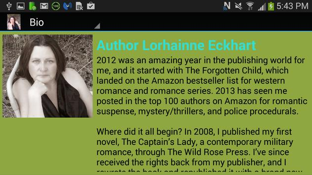 Author Lorhainne Eckhart apk screenshot