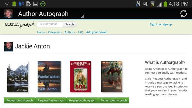 Author Jackie Anton apk screenshot