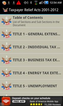 Taxpayer Relief Acts 2001-2012 poster
