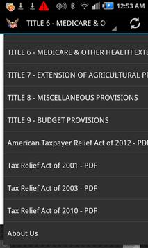 Taxpayer Relief Acts 2001-2012 apk screenshot