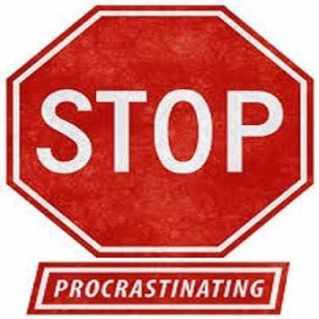 Solution to Procrastination poster