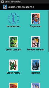 Superheroes Weapons 1 poster