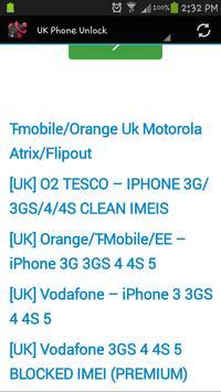UK Phone Unlock apk screenshot