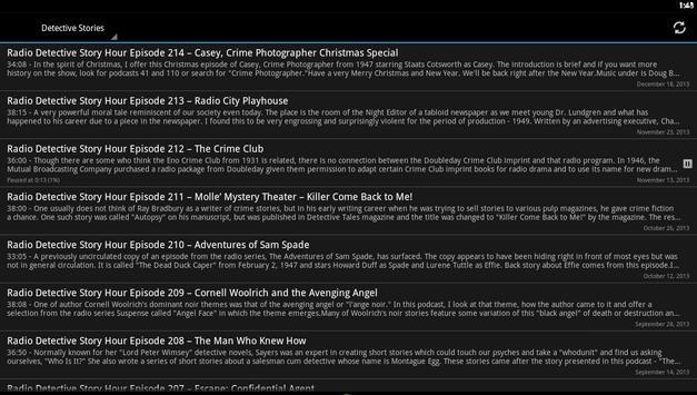 Detective Stories Podcast apk screenshot