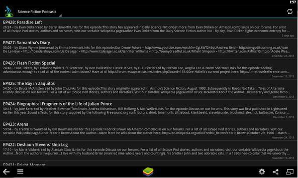 Science Fiction Podcast apk screenshot