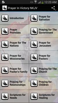 Praying In Victory NKJV poster